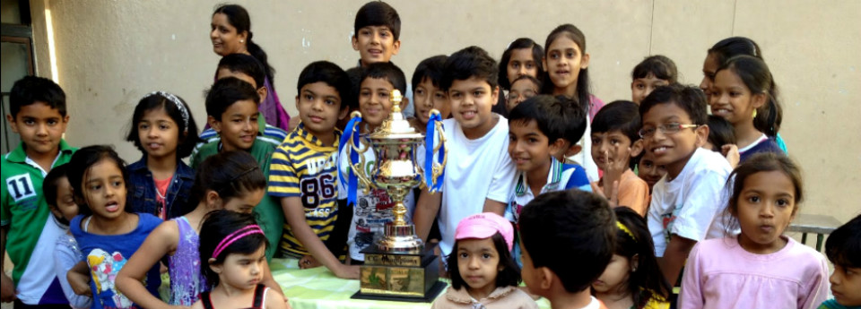 Children with the CG Championship Trophy